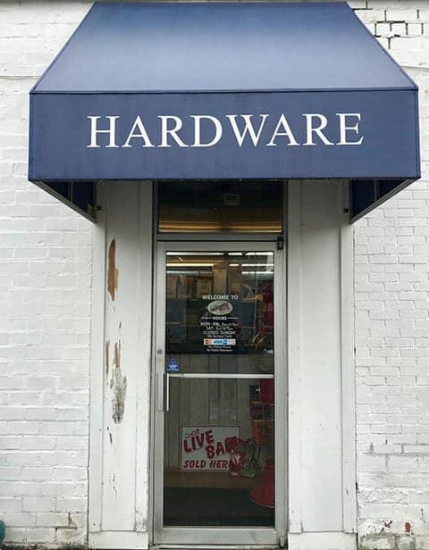 HR Wolf Hardware entrance